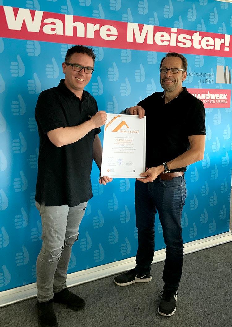 Zertifikat Generationenfreundlicher Betrieb - Andreas Kramer