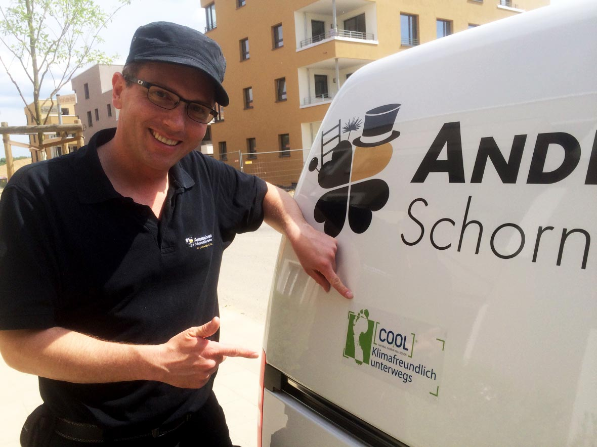 Schornsteinfegerbetrieb Andreas Kramer fährt klimaneutral