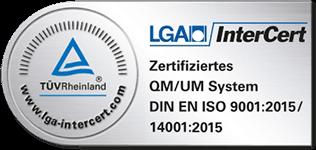 Schornsteinfeger mit Zertifikat - DIN ISO 9001 und 14001